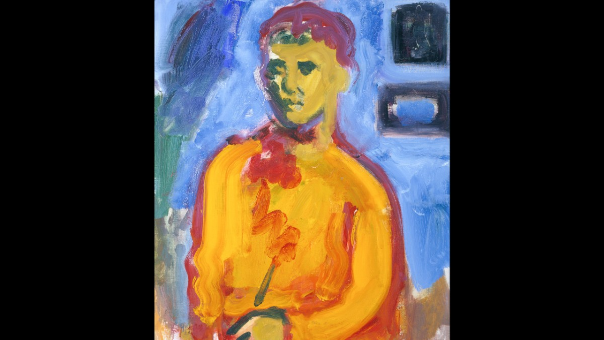 Figure in an Orange Shirt