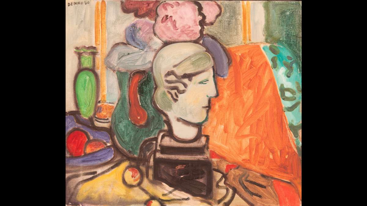 Still Life with Head of a Woman