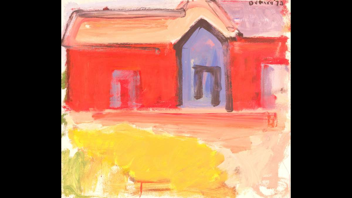 Red House with Blue Door