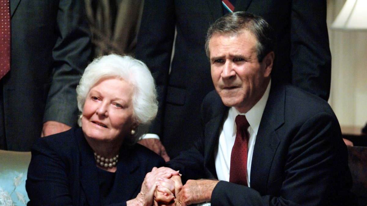 Bush family looking on