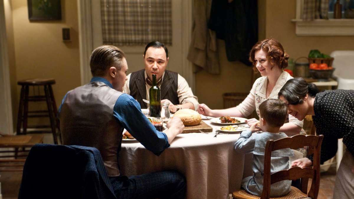 Al at table with Jimmy and family