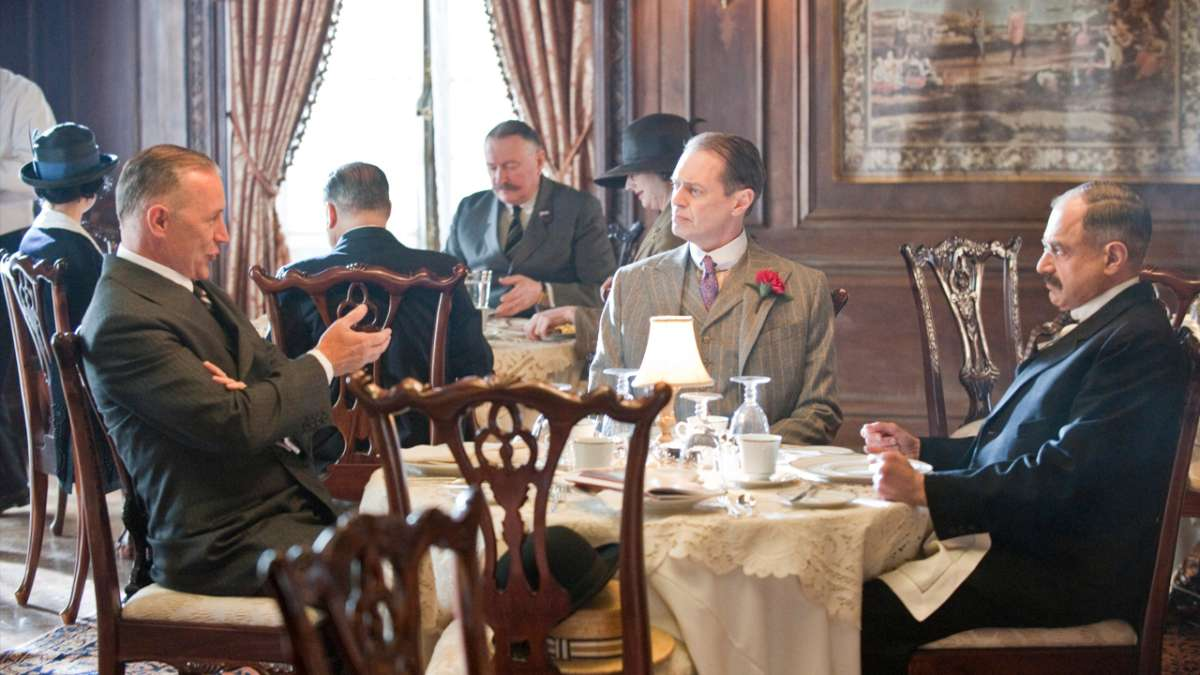 Senator Edge Nucky and Eddie Kessler at dinner table