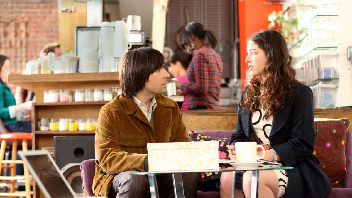 Jonathan Ames and Suzanne in coffee shop