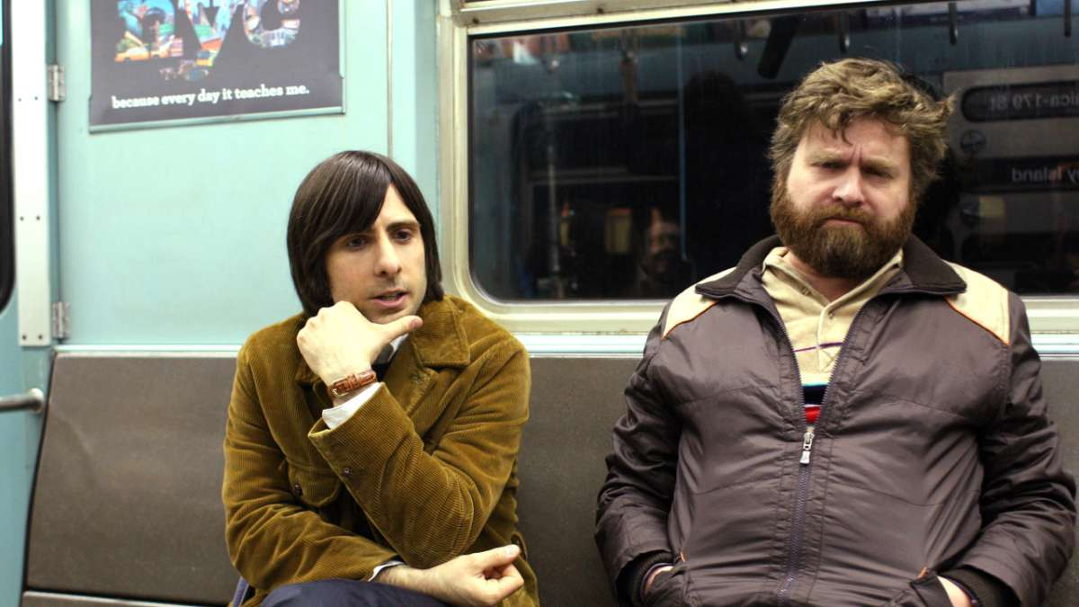 Jonathan Ames and Ray Hueston on subway