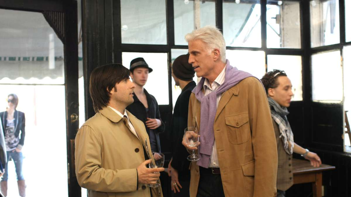 Jonathan Ames George Christopher at Brooklyn restaurant party