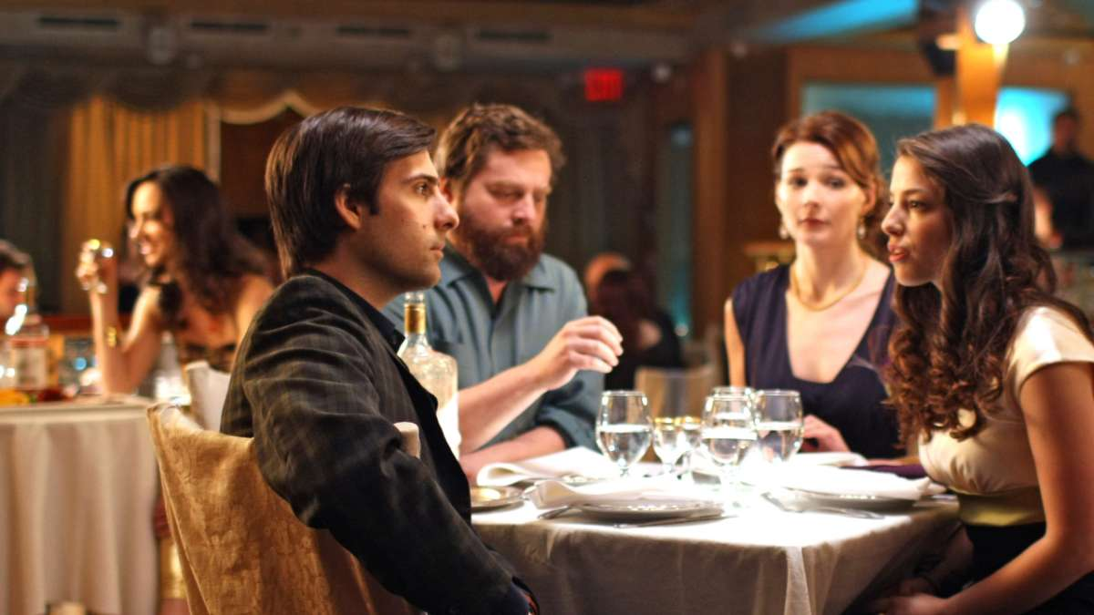 Jonathan Ames Suzanne Ray Hueston Leah at restaurant table