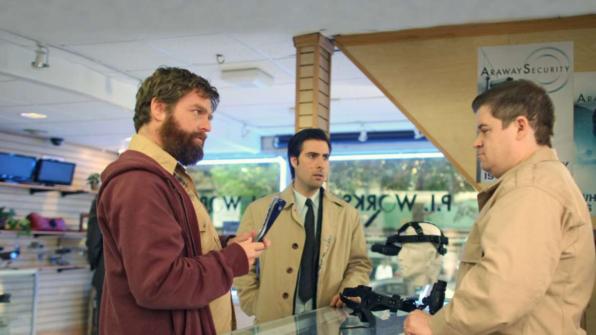 Ray Hueston Jonathan Ames in surveillance store