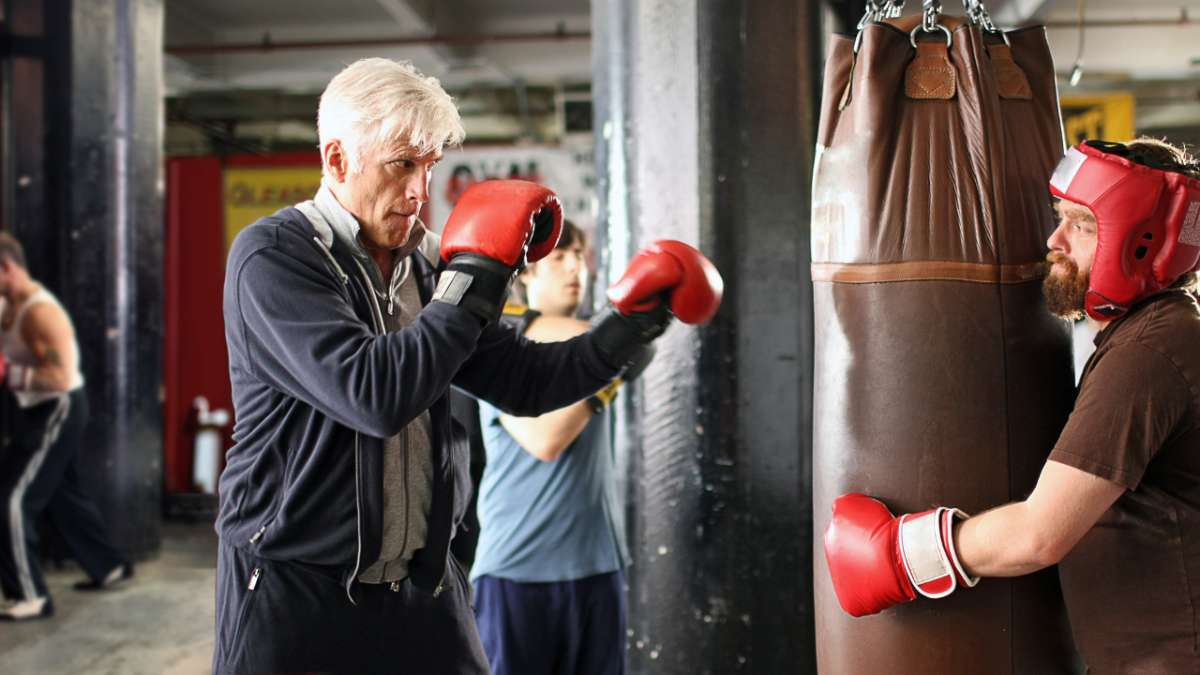 George Christopher Jonathan Ames and Ray Hueston train at boxing gym
