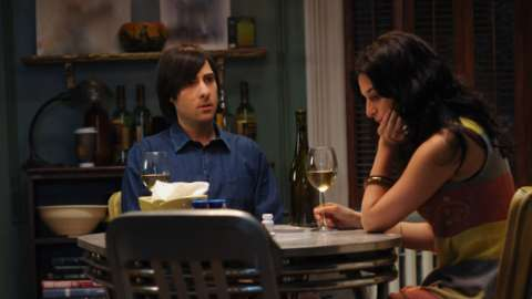 Jonathan and girlfriend at dinner table