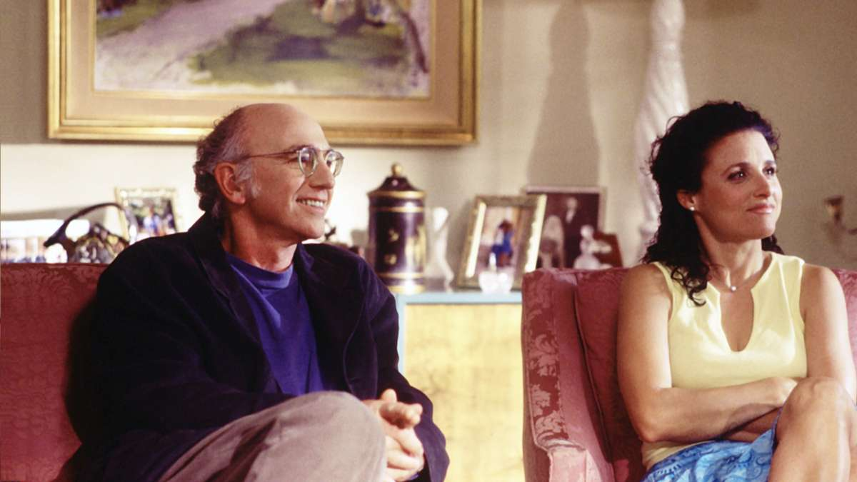 Larry David and Julia Louis-Dreyfus