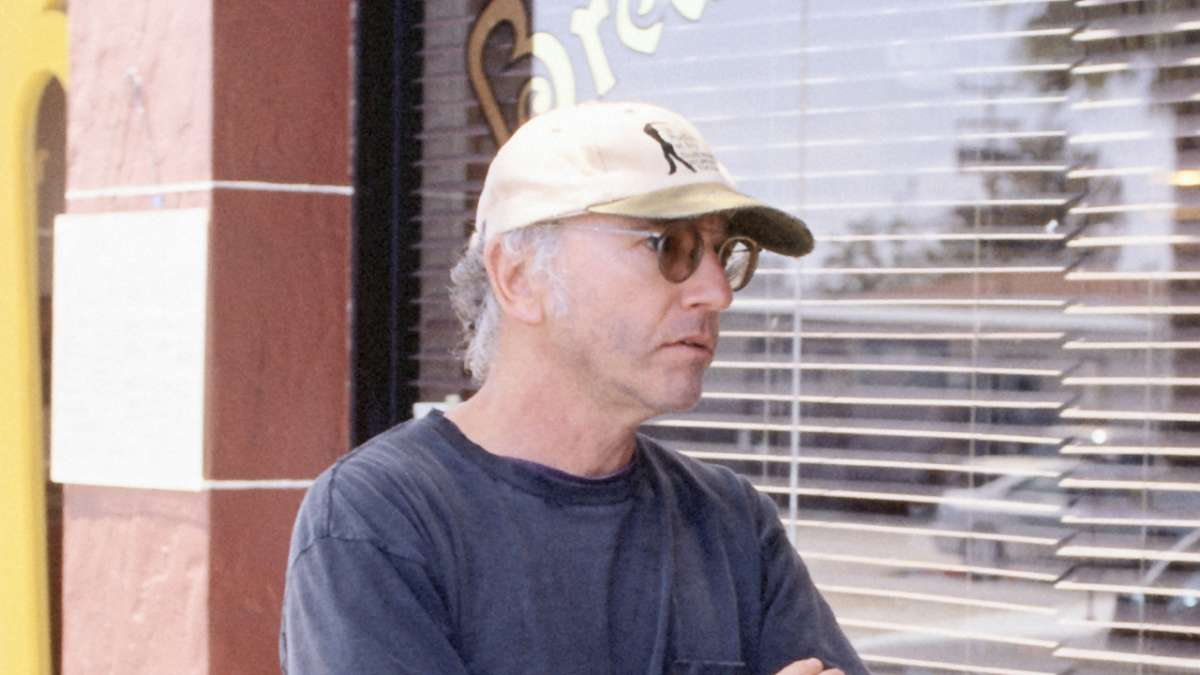 Larry David in baseball cap
