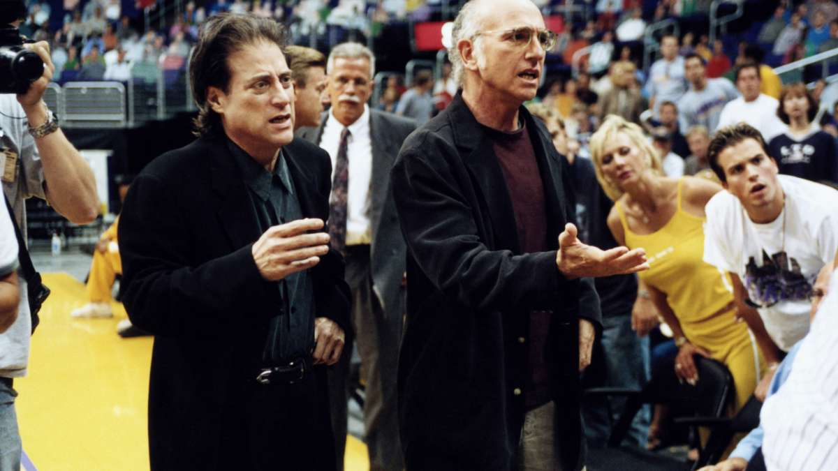 Richard Lewis and Larry David shocked Lakers fans