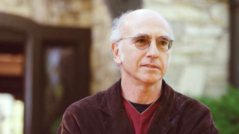 Larry David outside