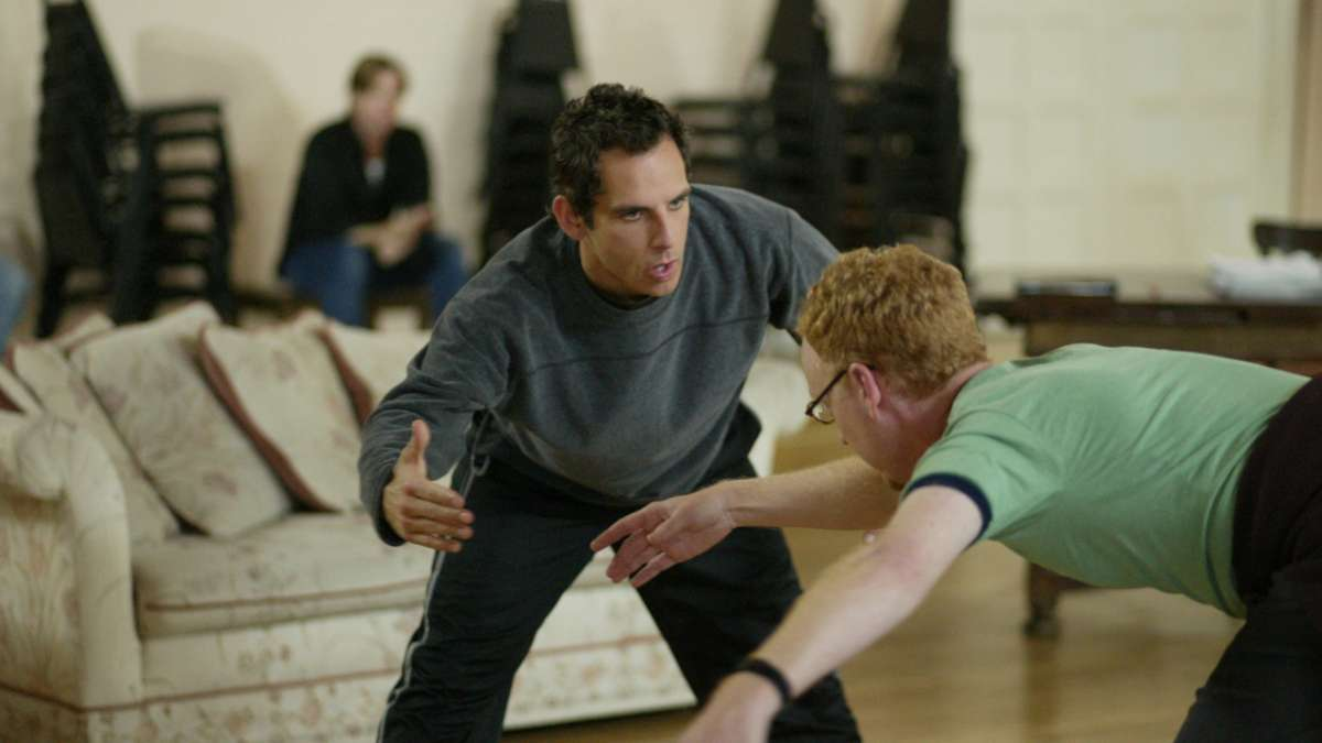 Ben Stiller directing dancer
