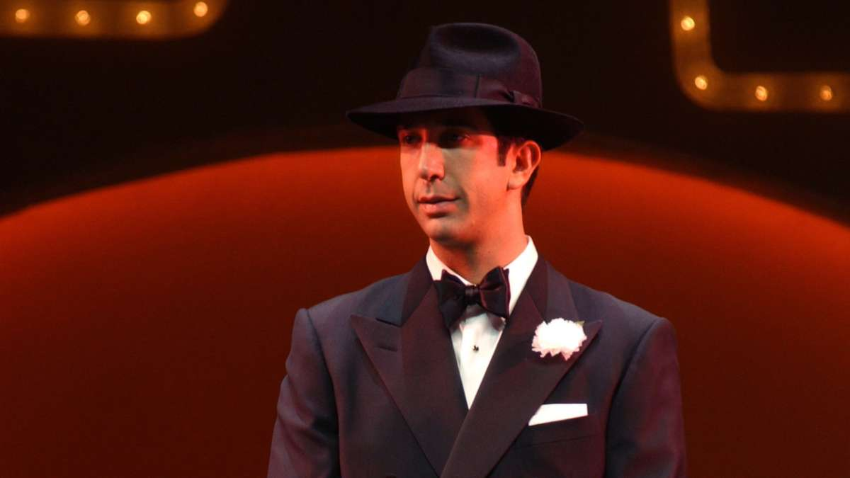 David Schwimmer performing in The Producers