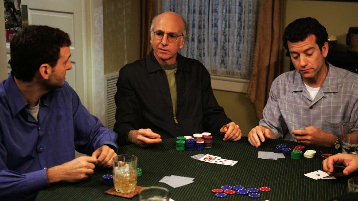 Larry David at poker table