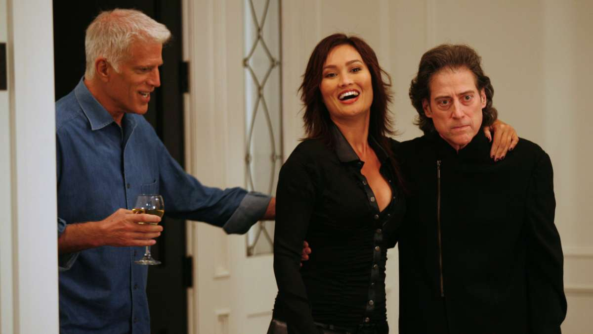 """Ted Danson, Richard Lewis and girlfriend"""