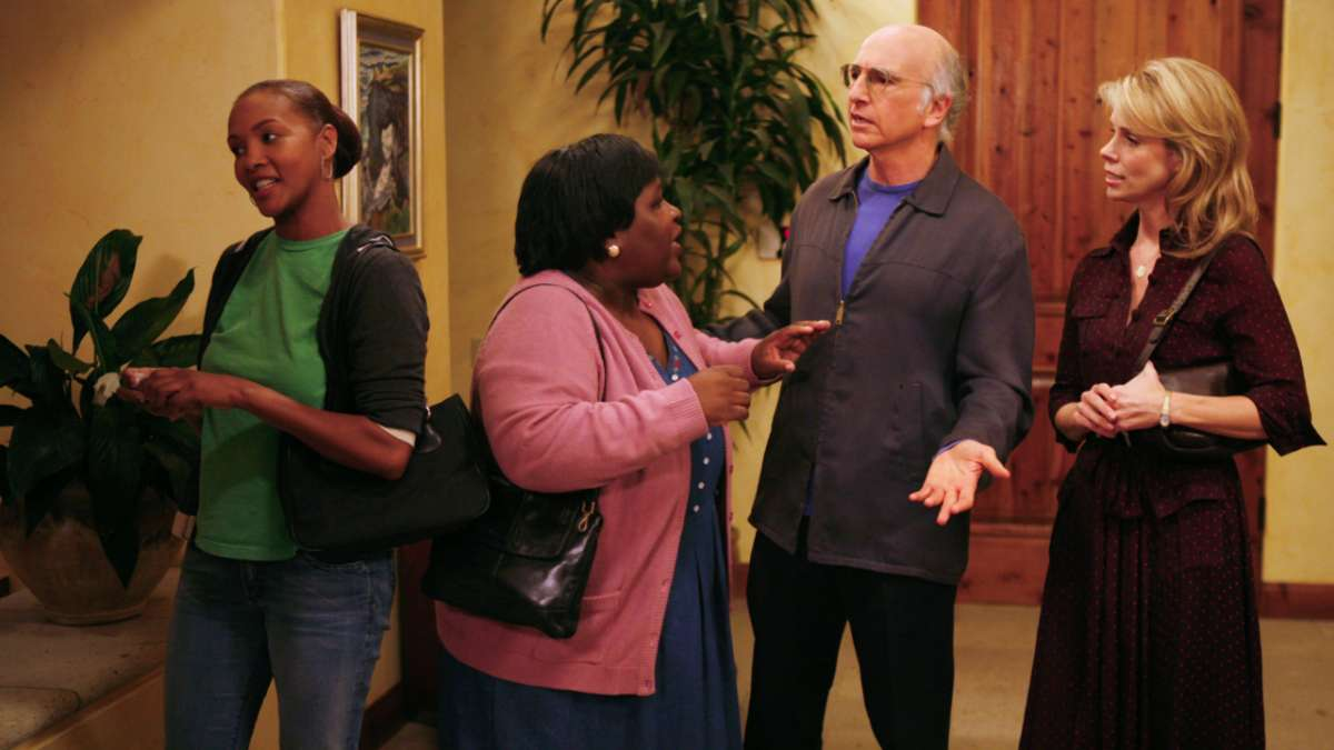"""Loretta Black, Auntie Rae, Larry David and Cheryl"""