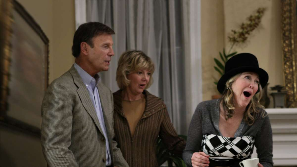 """Funkhouser, his wife and bam bam at party"""