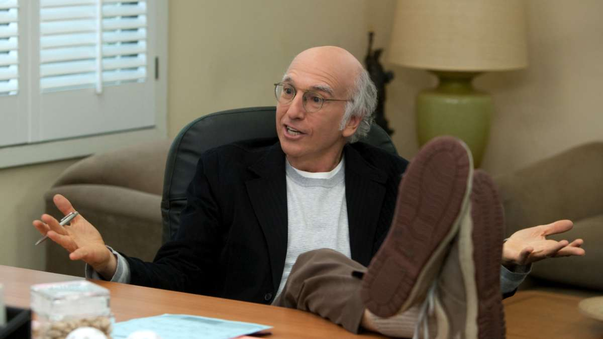 Larry David feet on desk