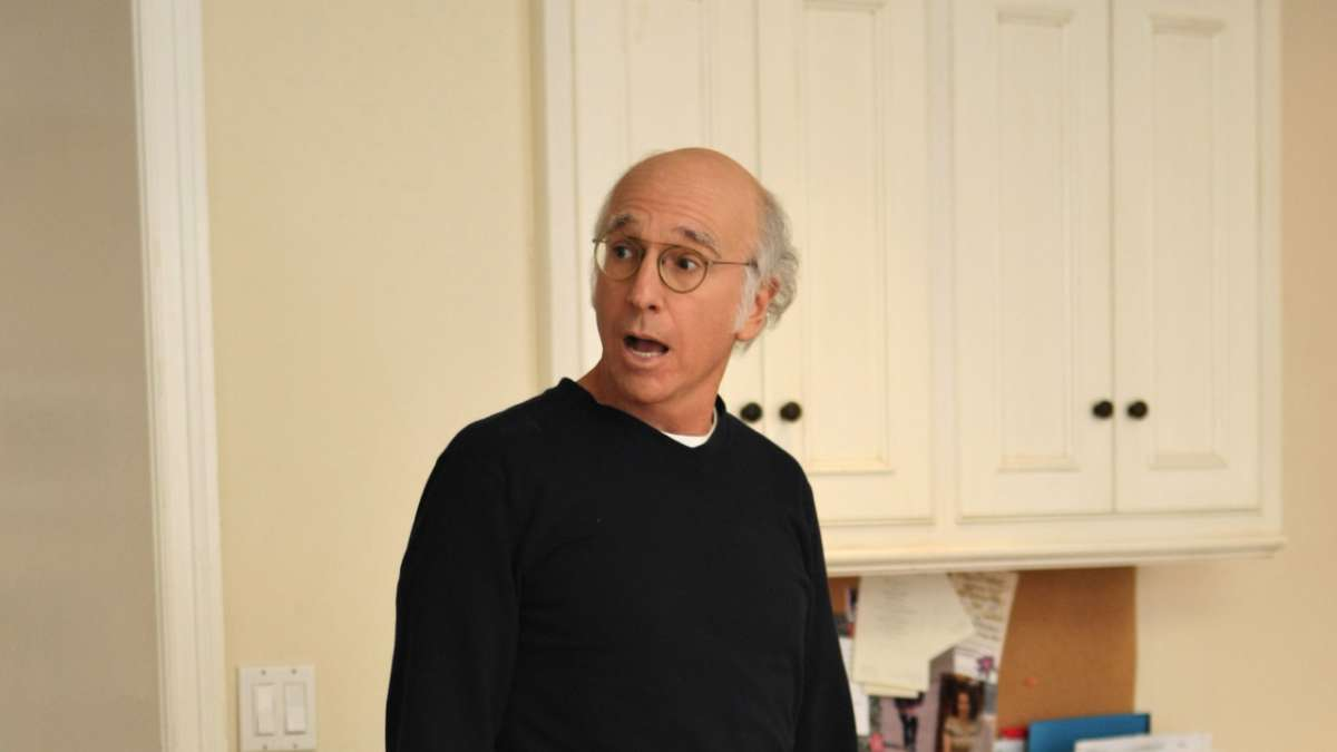 Larry David yelling in kitchen