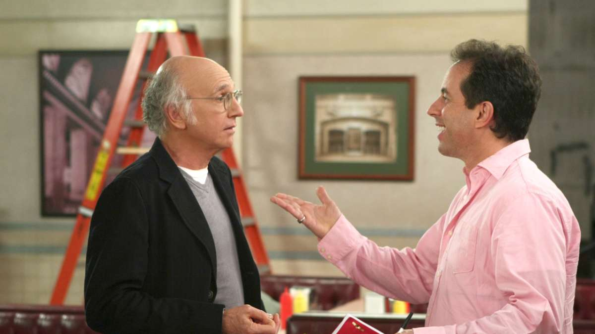 Larry David Jerry Seinfeld pink shirt