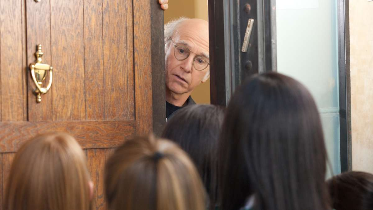 Larry opens door to girl scouts