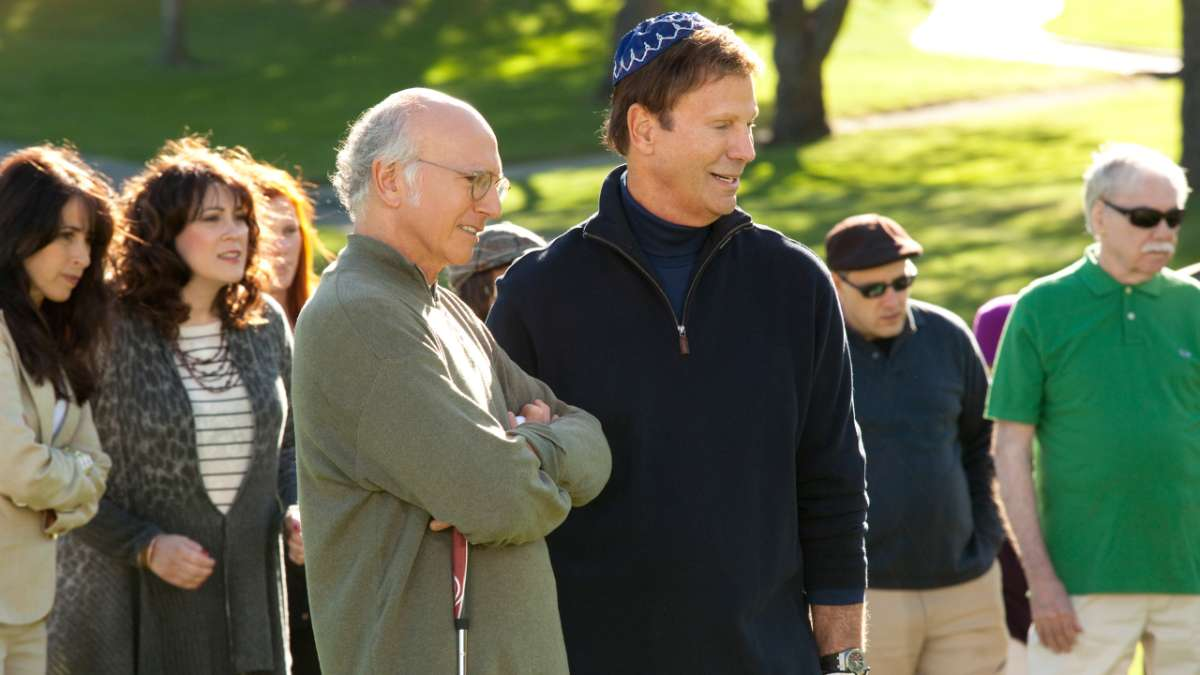 Larry and Marty on golf course