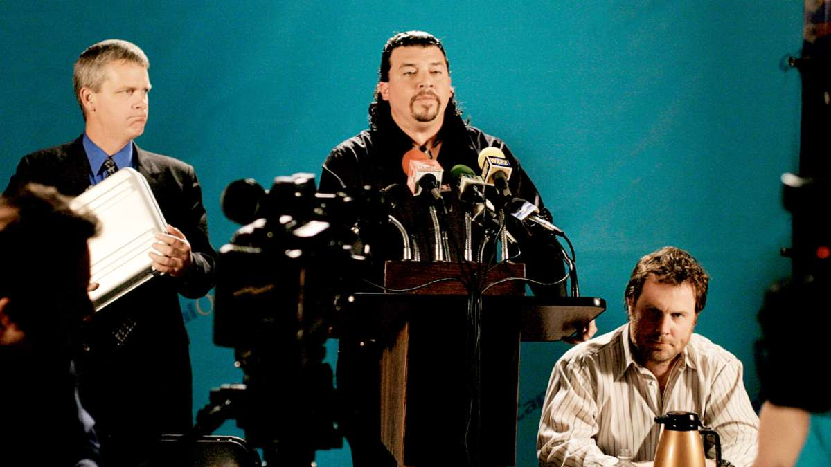 Kenny Powers at press conference