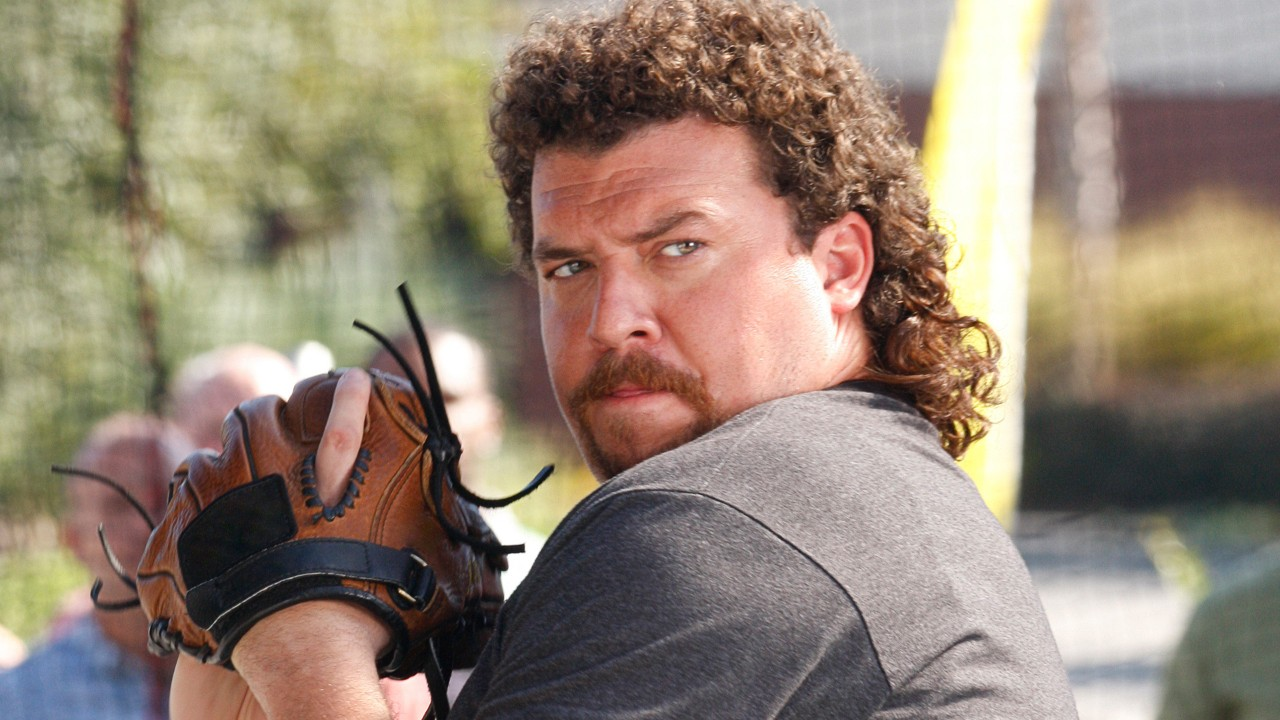 Kenny Powers about to pitch