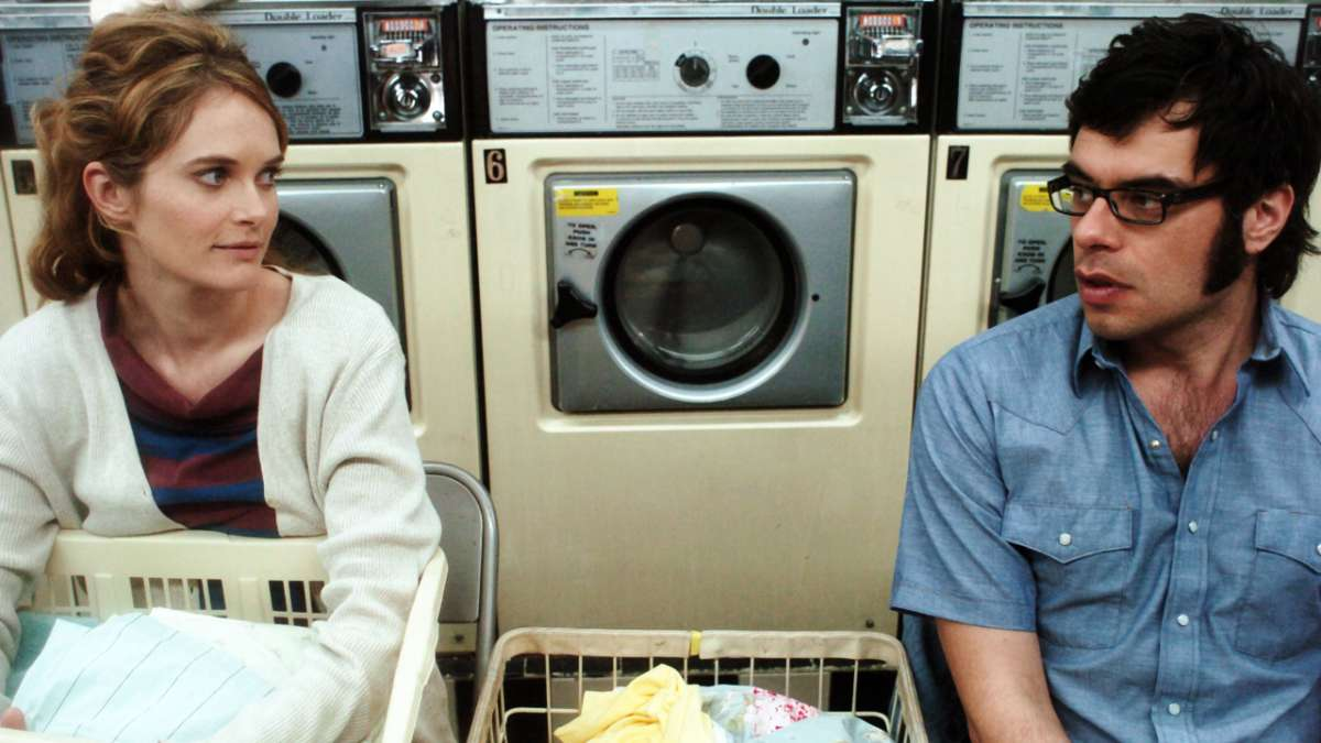 Sally and Bret in laundry mat