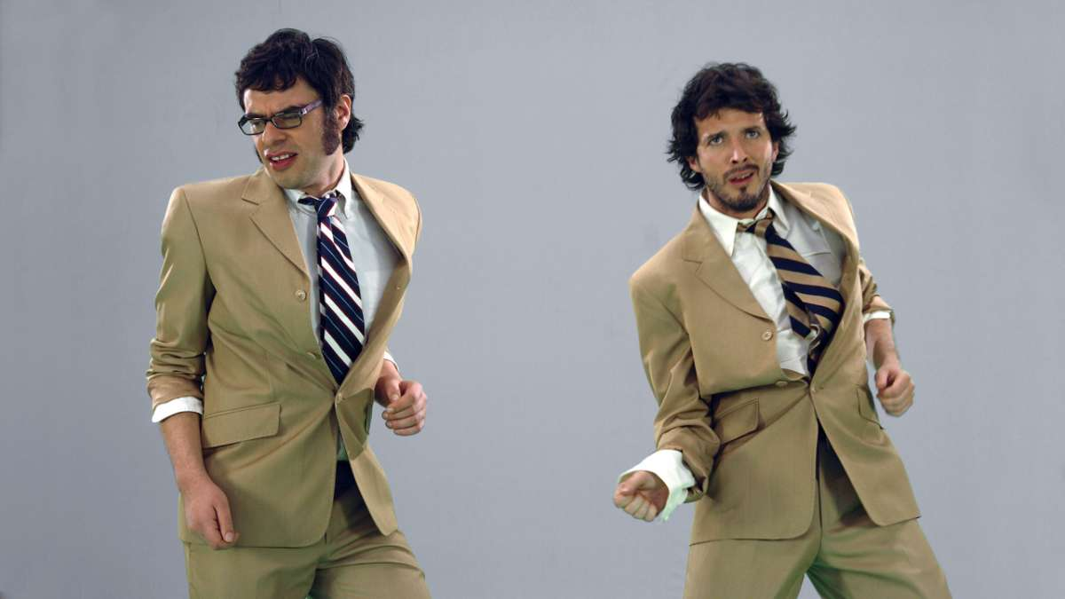 Jermaine and Bret Dance in suits
