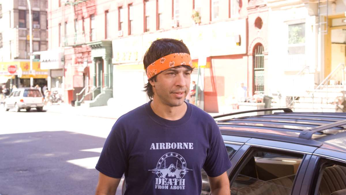 Dave outside with orange bandana