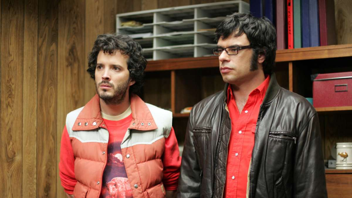 Bret and Jemaine in Murrays office