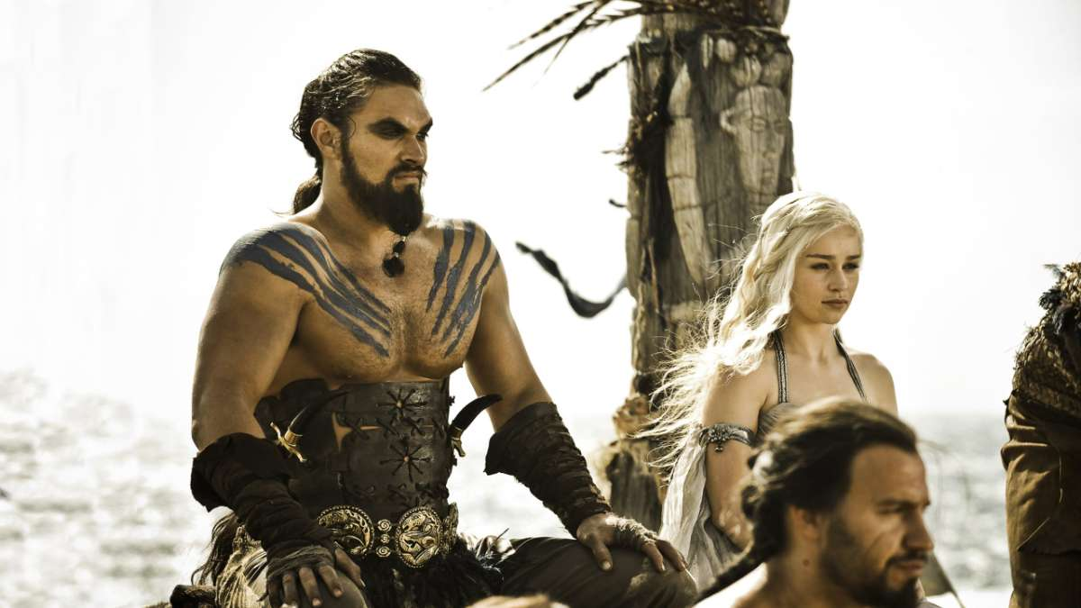 Ep01 Khal Drogo Daenerys at wedding