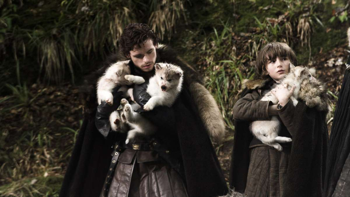 Ep01 Stark brothers dire wolf puppies