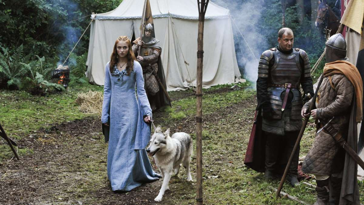Sansa and Lady camp