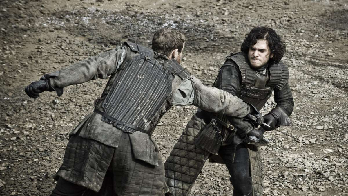 Jon Snow training for Knight's Watch