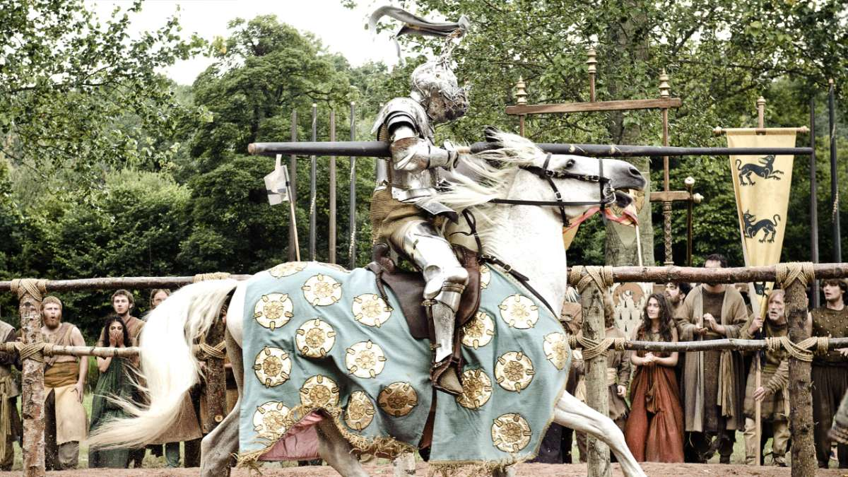 Knight of flowers joust