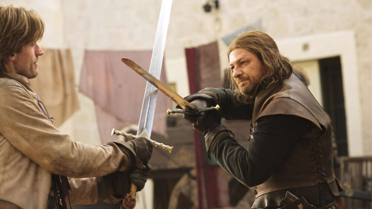 Ned fights Jaime