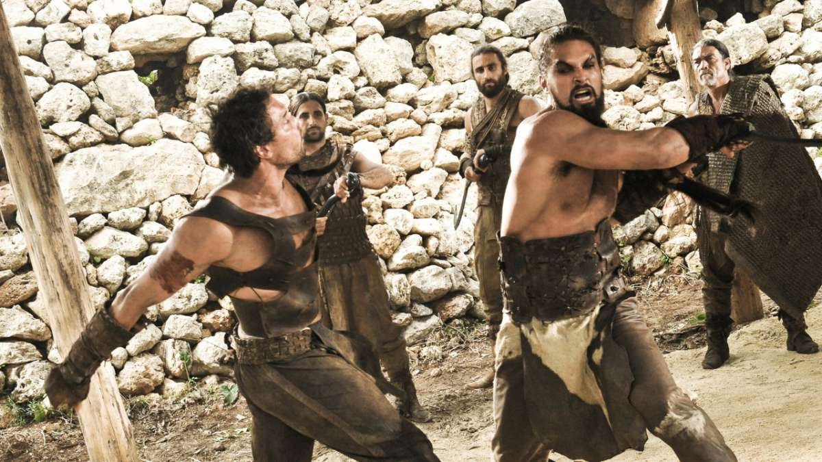 Khal Drogo fights