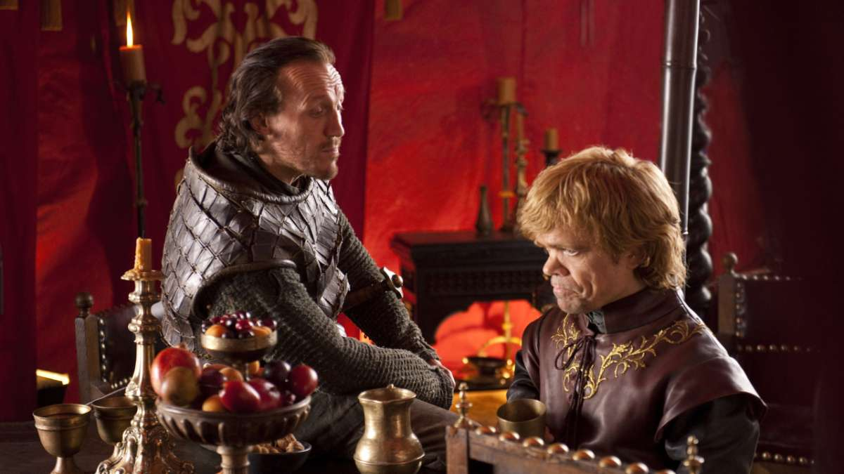 Bronn and Tyrion in tent