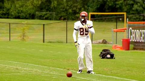 Chad Ochocinco practicing a kick