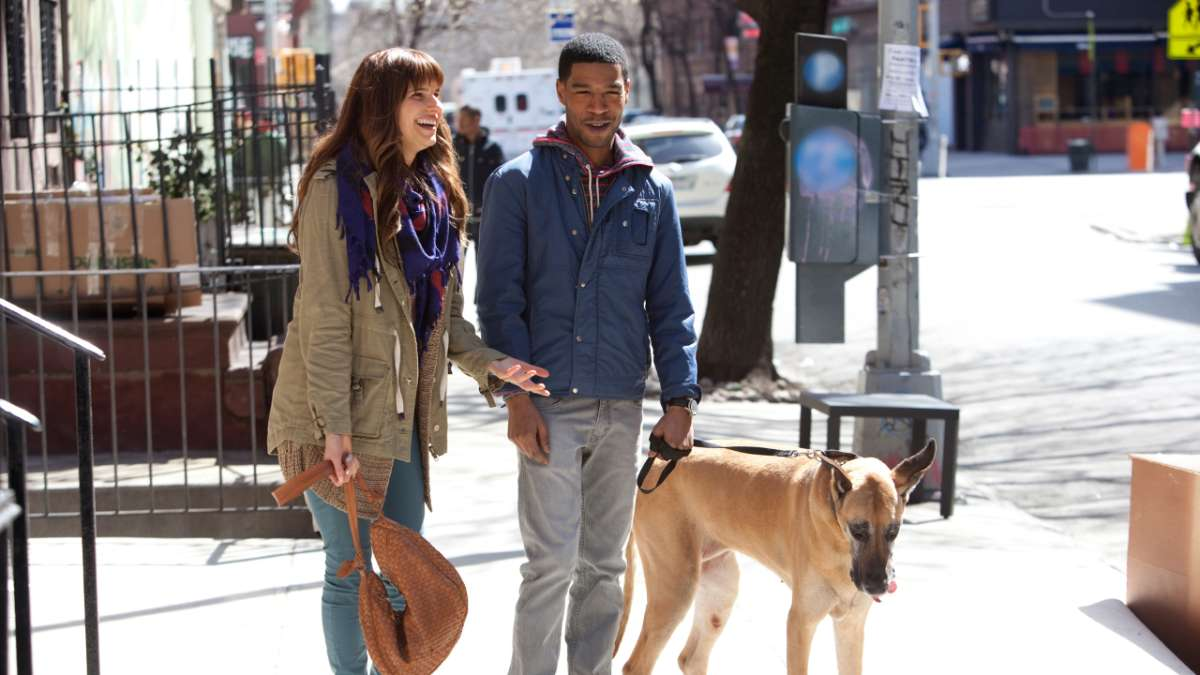 Rachel and Dean with dog