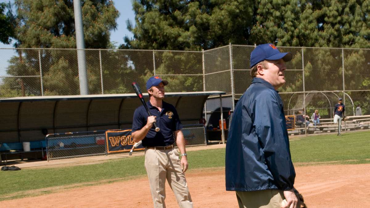 Ray and Coach Mike on baseball field