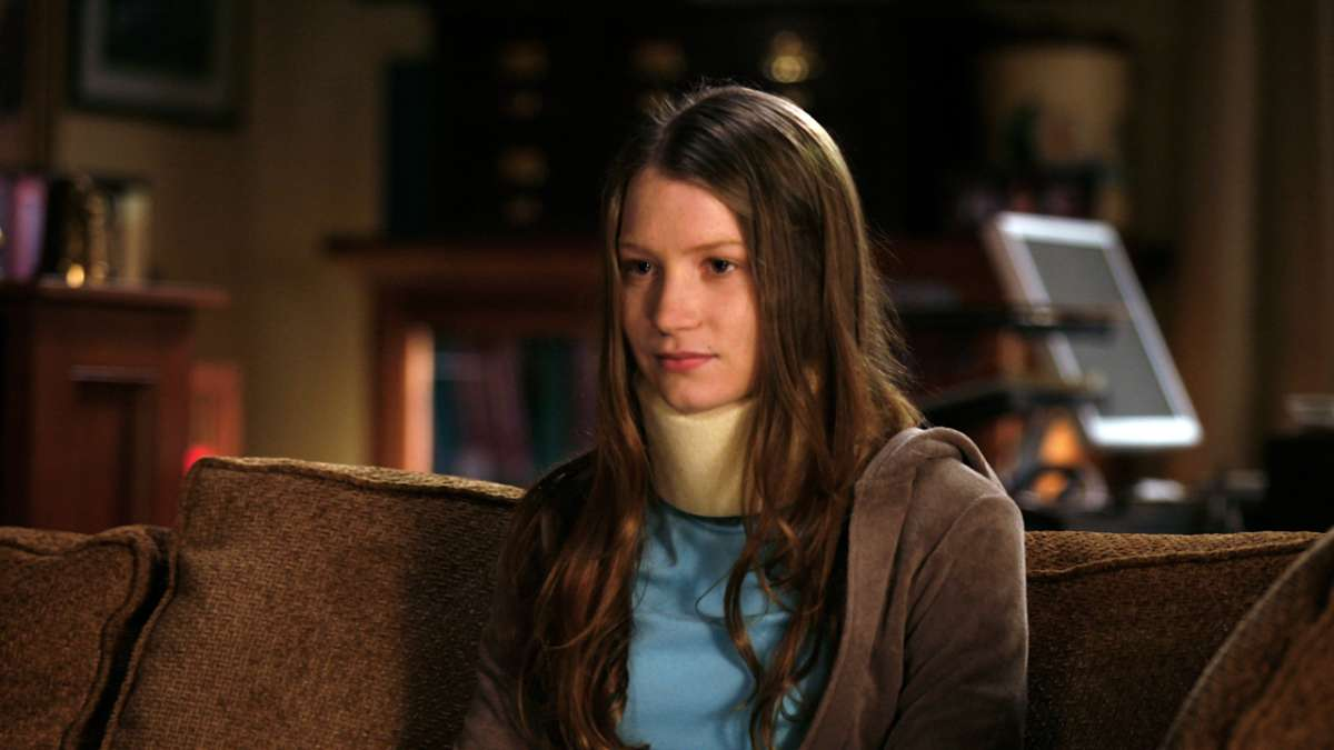 Sophie in neck brace