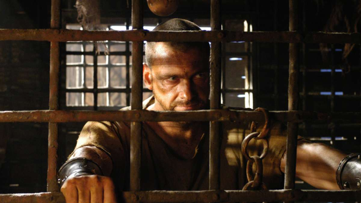 Titus Pullo in jail cell