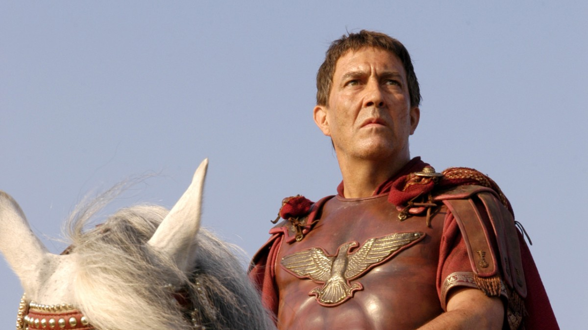 Julius Caesar on white horse