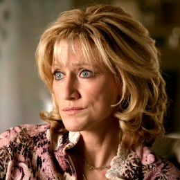 Carmela Soprano close up head tilted