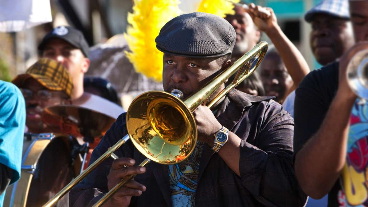 Antoine Batiste in second line band